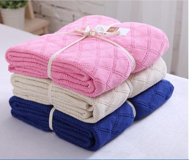160*190 cm 100% Do Bebê Do algodão de Malha Cobertores Newborn fotografia props, fundo fotográfico