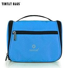 TINYAT Portable maquillage voyage sac de lavage Multifonction haute capacité femmes cosmétique sac organisateur trousse de toilette T702 Bleu