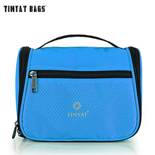 TINYAT makeup bag Portable make up  bag Multifunctional high capacity women cosmetic bag organizer toiletry bag T702 Blue