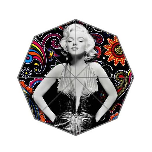 Fashion Design Umbrella Custom super stars Marilyn Monroe Folding Umbrella For Man And Women Free Shipping UPC-074