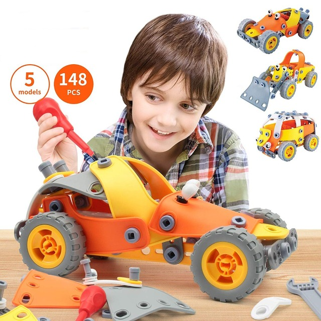 148 Pcs 5 1 Build Play Toy Set Kids Stem Educational Diy Building