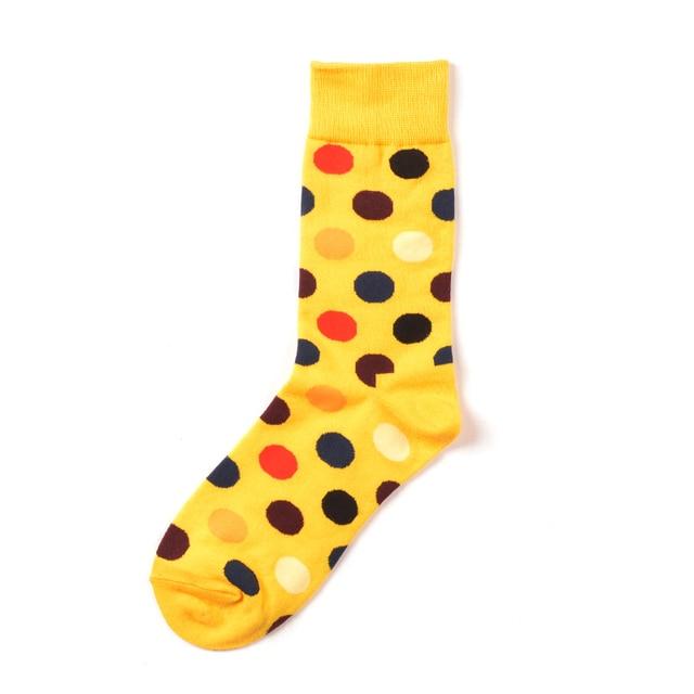 Jhouson 1 pair Colorful Men's Cotton Crew Funny Socks Watermelon Corn Spaceman Pattern Novelty Skateboard Socks For Gifts 5
