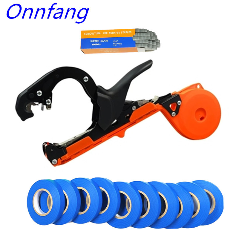 Onnfang Garden Tool Plant Tying Tapener Tape Bind Machine Tying Vine Branch Machine Tied Twig Strapping Vegetable Grape Stem Gun