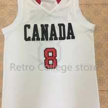 4501b1d02  8 Andrew Wiggins Canada white Red Mens Basketball Jersey Embroidery  Stitched Customize any name and number