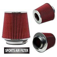 Universal Chrome Finish Car Air Filter Induction Kit High Power Sports Mesh Cone Universal Chrome Finish