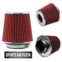 Universal Chrome Finish Car Air Filter Induction Kit High Power Sports Mesh Cone Universal Chrome Finish