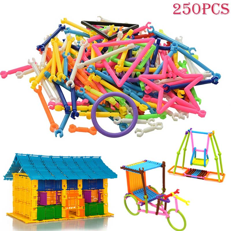 250Pcs Baby Early Learning Gifts Plastic Intelligence Sticks Educational Building Blocks Toys Handmade DIY -17 NSV775250Pcs Baby Early Learning Gifts Plastic Intelligence Sticks Educational Building Blocks Toys Handmade DIY -17 NSV775