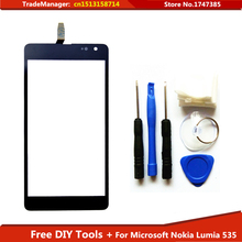 Free Tools+ New Original Touch Screen display For Microsoft Nokia Lumia 535 2s touchScreen panel digitizer black free shipping