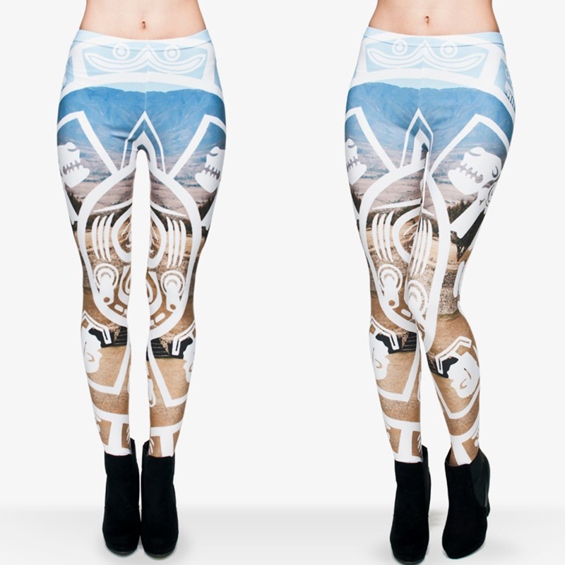 AdventureTime Funny Leggings Women 3d mayan callendar Printed Pants Forma de la aptitud de la mujer Legging physique des femmes