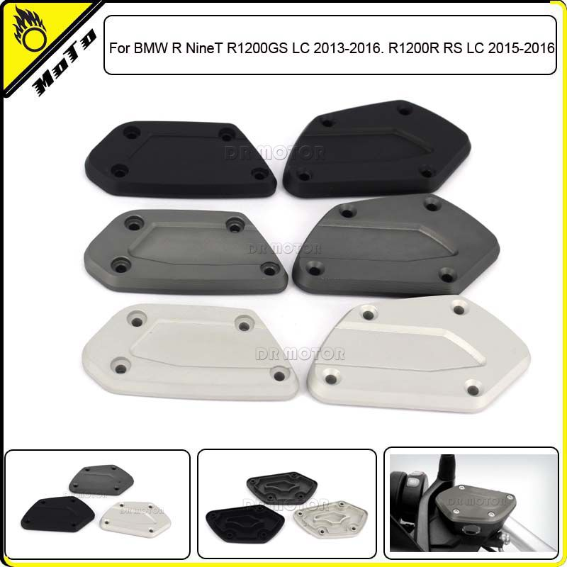 ФОТО 2ps Motorcycle CNC Aluminum Front Brake Clutch Reservoir Cover Caps For BMW R NineT R1200GS LC 2013-2016. R1200R RS LC 2015-2016