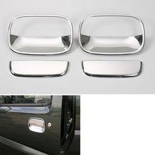 4pcs Exterior Door Handle Bowls Cover Trim Car Styling Sticker ABS Chromium Decorate Auto Accessories For Suzuki Jimny 2007-2015