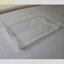 (2PCS/LOT ) PNE LUX All Purpose Home Use Clear Acrylic Storage Tray,Perspex Food Trays