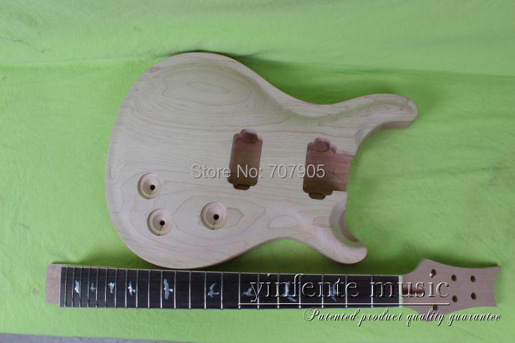 купить 1   set  25  unfinished electric guitar neck and  guitar body   mahogany made  and rose wood    fingerboard дешево