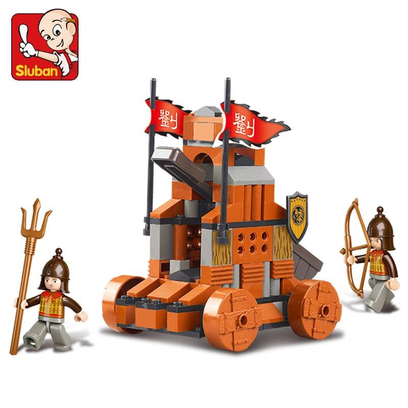 SLUBAN 0261 castle Ancient musket Building Block Sets 3D Construction Brick Educational Hobbies Toys for Christmas brinquedos