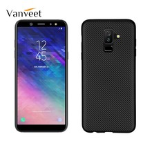 Vanveet Soft Case For Samsung Galaxy A6 Plus 2018 Case Silicone Jean Galaxy A9 Star Lite Case Carbon Fiber Cover Back Bag Fundas(China)