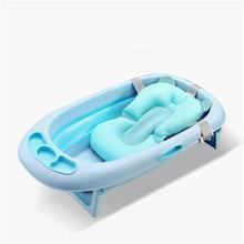Portable Baby Shower Bath Tub Pad Non-Slip Bathtub Mat Newborn Safety Security Bath Support Cushion Soft for Baby Tubs цена