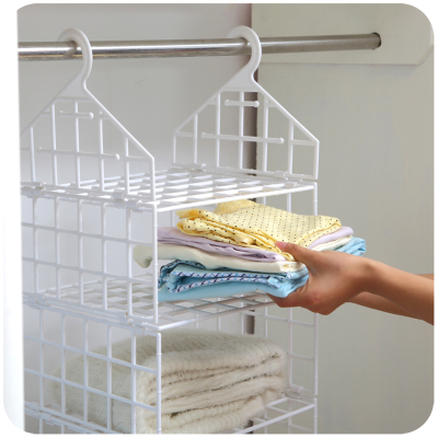 Creative Home Closet Organizer Plastic Folding Storage Shelving Hook Storage  Hanging Shelves Clothes Rack Holder In Storage Holders U0026 Racks From Home ...