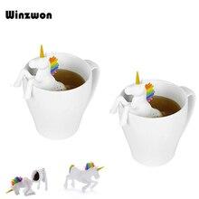 1Pcs Creative Unicorn Shape Silicone Tea Infuser Strainers F
