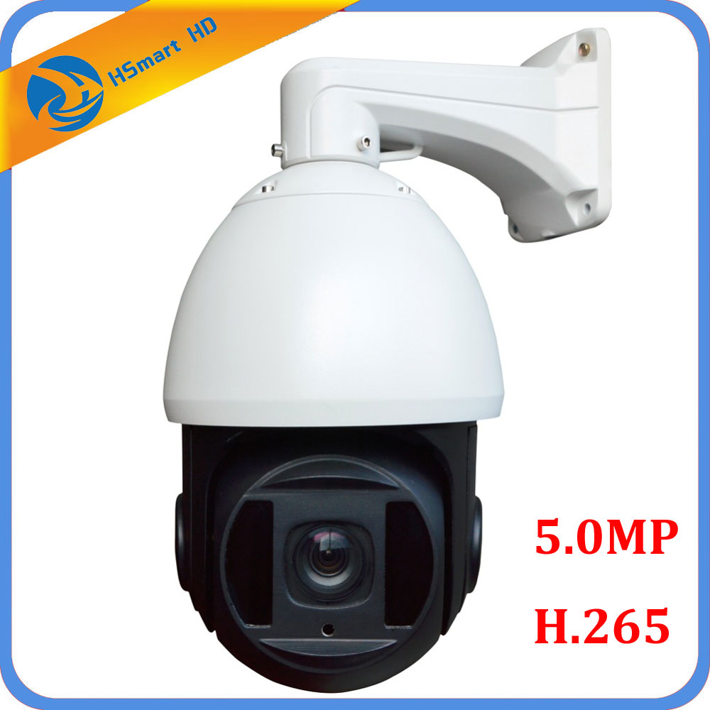 H.265 HD 5.MP 1080P IP High Speed Dome PTZ Cam 30X Zoom Outdoor Network Onvif CCTV Security Camera with HIKVISION dahua NVR dahua ip camera 4mp full hd 30x h 265 network ir ptz dome camera with poe ip66 without logo sd59430u hni
