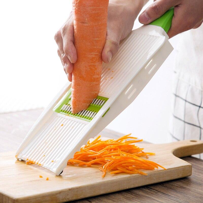 Manual Stainless Steel Potato Slicer Cutter Household Kitchen Multifunctional Potato Shredder Wire Planer Wiper Cutter