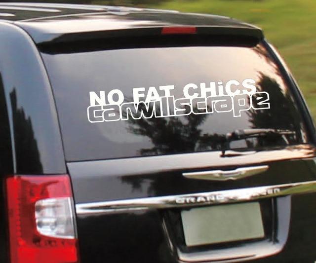 Printing words no fat chicks car decor decals art auto car sticker best decor for your