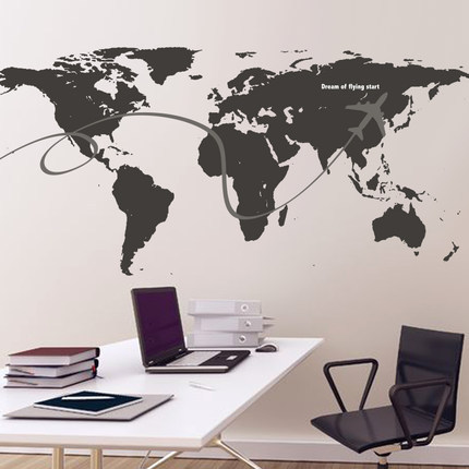 Hot travel around the world wall stickers world map decal large area hot travel around the world wall stickers world map decal large area wallpapers wall quote office gumiabroncs Choice Image