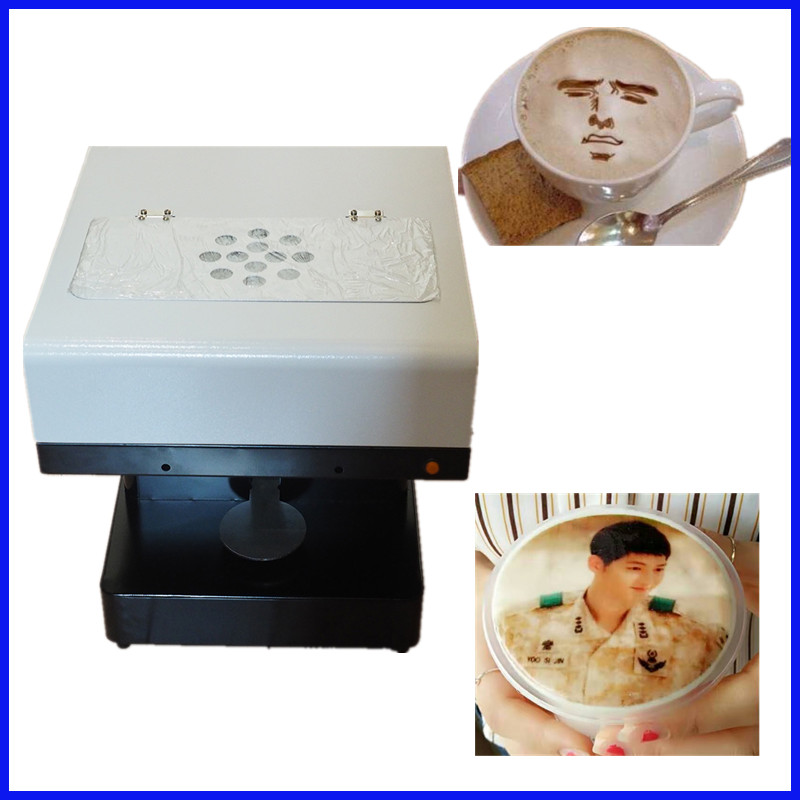 Selfies Coffee Printer Milk tea Yogurt Cake Printing Machine with WIFI expire date printing machine date code printer machine for printing expiration date