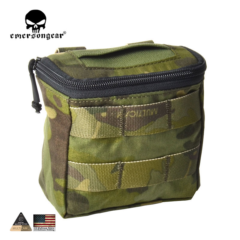 Emersongear Concealed Disposable Glove Pouch/500D Multicam MOLLE Battle Field Medic EMT Pouch Free shipping 5 Colors