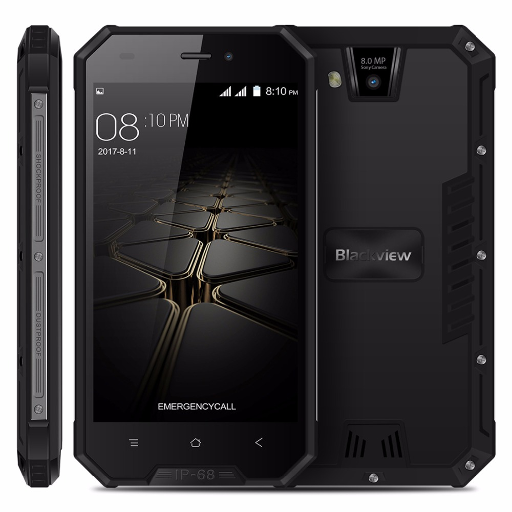 Blackview BV4000 PRO Smartphone IP68 Waterproof MT6580A Quad Core 4 7 Inch Android 7 0 CellPhone
