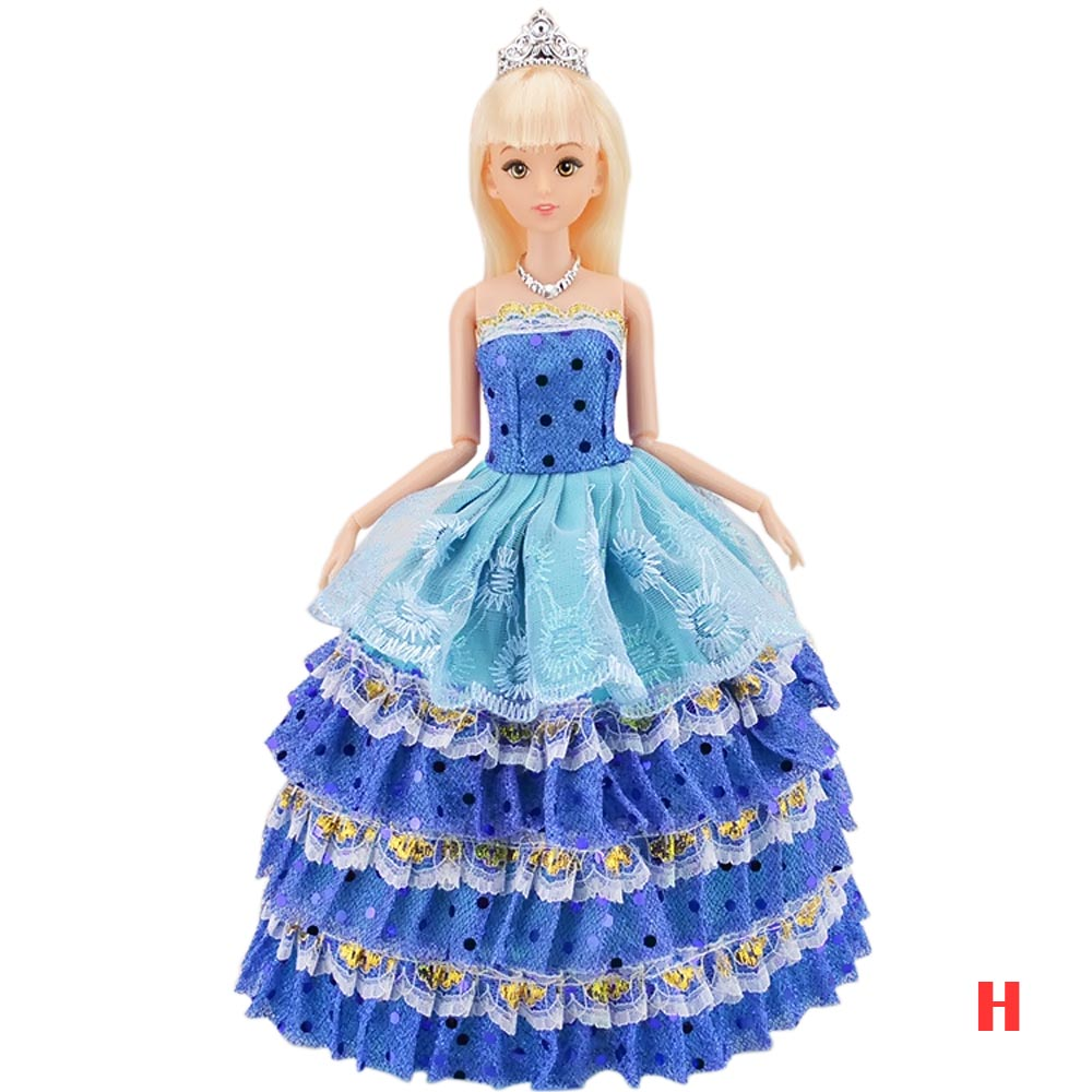 c7e3c4d030890 US $3.53 50% OFF|Girl Dolls Toys Satin Wedding Princess Party Dresses Gown  Suit Outfits Doll Accessories for Barbie Toys Kids Girls Birthday Gift-in  ...