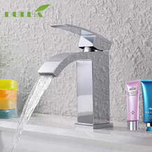 цена на Bathroom Basin Sink Faucet Toneira Vessel Faucets Cold And Hot Water Mixer Tap Brass waterfall Deck Mounted Taps Free shipping