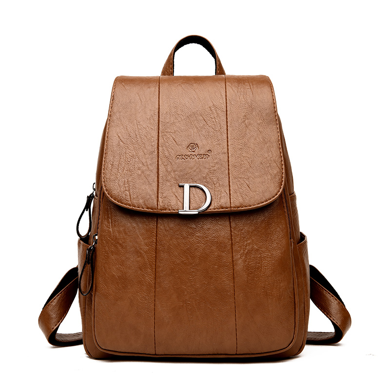 Japan And South Korea Style Women Backpack Casual Classic Female Shoulder Bags PU Leather Multifunction Girls School Backpack women s classic backpack