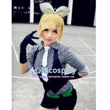 Venta caliente Del Anime Vocaloid Kagamine Rin Poker Face Cosplay Disfraces Sexy Bunny Girl Cos Ropa Uniforme para Las Mujeres Lolita