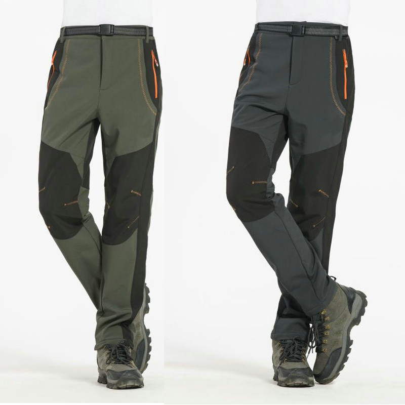 Men Outdoor Hiking Camping Trekking Pants Male Fleece Softshell Patchwork Trousers Mens Ski Pant Windproof Winter Warm With Belt new original 516 100 s45 s4 d warranty for two year