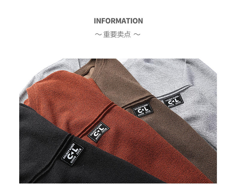 2019 New Fashion Hoodies Shirts Men Sweatshirts Male Solid Hoody Korean Styele O-Neck Autumn Spring Winter Brand Streetwears 02