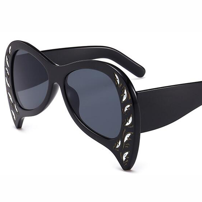 0e6f5a1245 funny glasses 2018 oversize black sunglasses designer woman glasses new  trendy big acetate sunglasses ladies female party mens -in Sunglasses from  Apparel ...