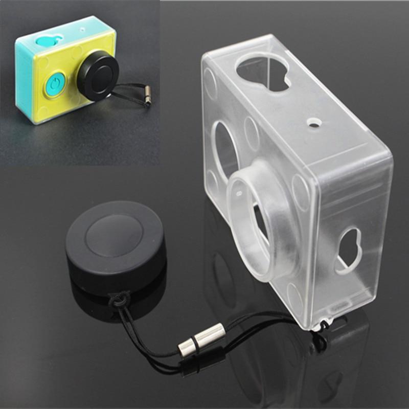 Ultrathin korpuss Xiaomi Yi caurspīdīgam aizsargkastei ar Xiaoyi darbības kameras objektīva vāciņu Xiaomi Yi kameru aksesuāriem