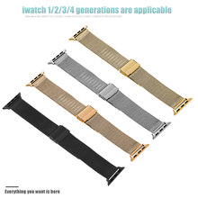 Correa de acero inoxidable para Apple watch band Series 4 3 2 1 correa de reloj 42mm 38mm correa de reloj iwatch 44mm 40mm de la correa de muñeca(China)