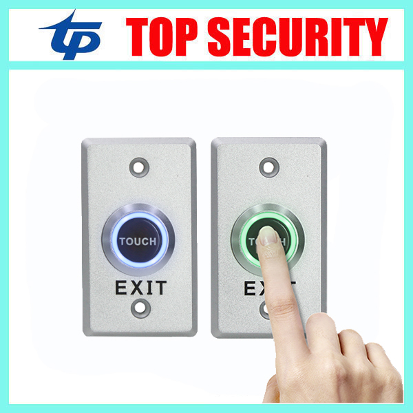 DC 12V NO NC Release Button Switch Zinc Alloy Door Exit Button Touch Sensor Door Exit with LED Light For Access Control System 19mm touch sensor piezo button switch with 5v dc red green blue three color ring illumination