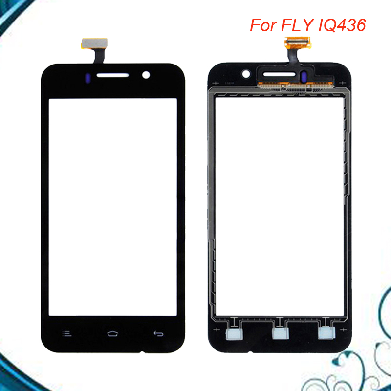 3.5 inch Front Glass Lens Touch Panel Sensor Touch Screen Digitizer For Fly IQ436 Era Nano 3 Fly iq 436 Touchscreen