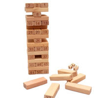 BOHS Beech Wood Pile Folds Up High Blocks Stack and Crash High Quality 51pcs/set
