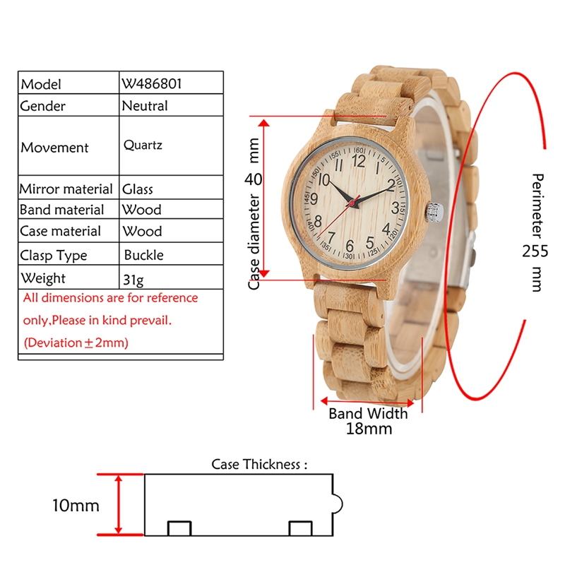 Image 3 - Women Wood Watch Natural All Bamboo Wood Clock Watches Top Brand Luxury Quartz Ladies Dress Watch Wooden Bangle as Best GiftsWomens Watches   -