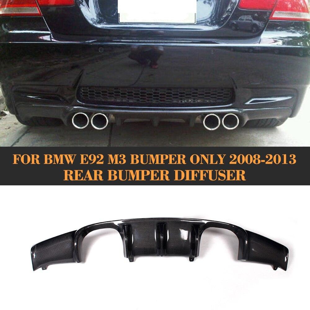 Carbon Fiber Add On Car Rear bumper Lip Spoiler Diffuser For BMW E92 Coupe E93 Convertible M3 2008-2013 Non 4 Door V Style g t style carbon fiber front lip spoiler fit for bmw e90 e92 e93 m3