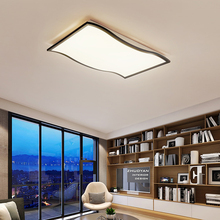 Modern simple ceiling light creative LED lamp for living room bedroom wave deco lights fixture E27