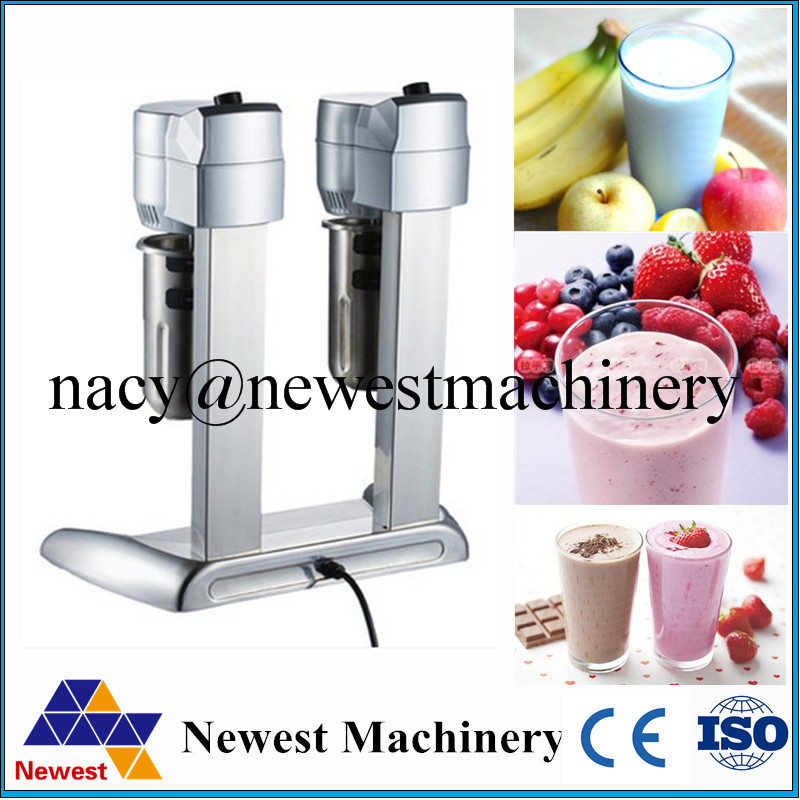 COMMERCIL Double Head Milk Shake Mixer Machine Stainless Steel US PLUG