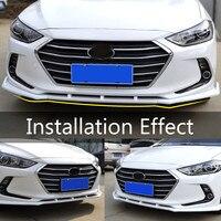 ABS Chrome Auto Voorbumper Onder Diffuser Protector Schop Lip Spoiler Crashproof Voor Hyundai Elantra 2016 2017 2018-in Bumpers van Auto´s & Motoren op