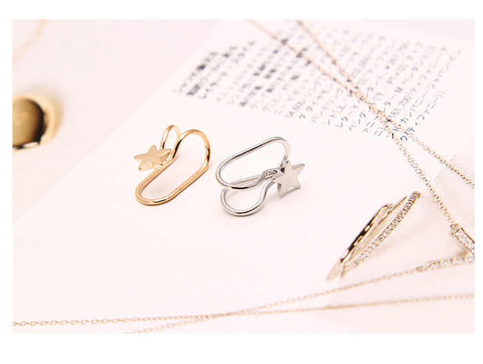 Mode Multi-stil Trend frauen U-förmigen Ohrringe Ohr Manschette Herz Geformt Schmetterling Mond Feminine Clip auf ohrringe Schmuck