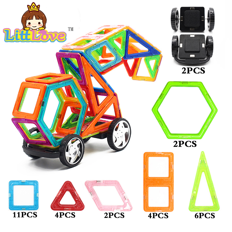 MylitDear Car Truck Regular Enlighten Bricks Educational Magnetic Designer Construction Building Blocks Toys for Children 128pcs military field legion army tank educational bricks kids building blocks toys for boys children enlighten gift k2680 23030
