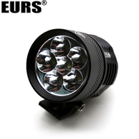 EURS 2PCS 45W motorcycle headlights auxiliary lamp L4X L6X 4500LM motorbike spotlight accessories 12V motor spot head lights