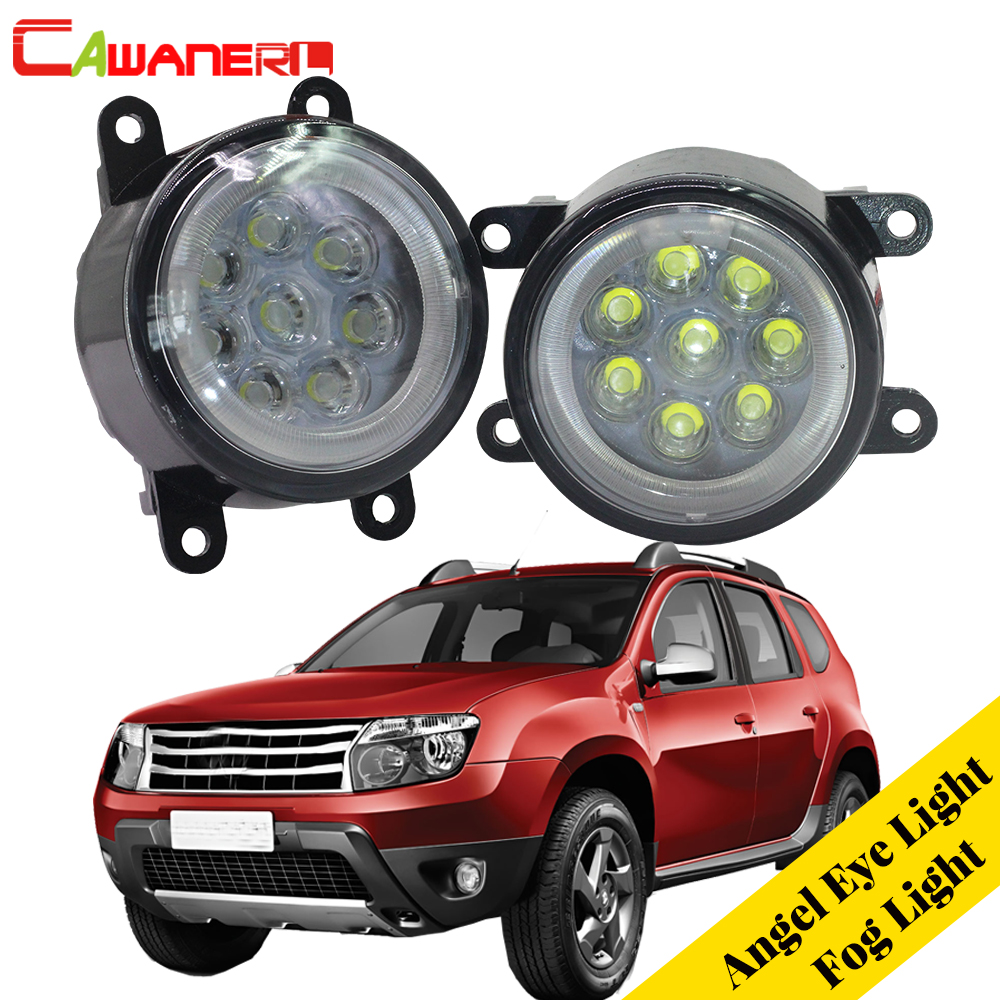 Cawanerl For 2012-2015 Renault Duster Closed Off-Road Vehicle Car Styling LED Lamp Fog Light Angel Eye DRL Daytime Running Light dhl ems free shipping 2 4g wifi gsm gprs sms wireless home house security intruder alarm system wireless flash siren